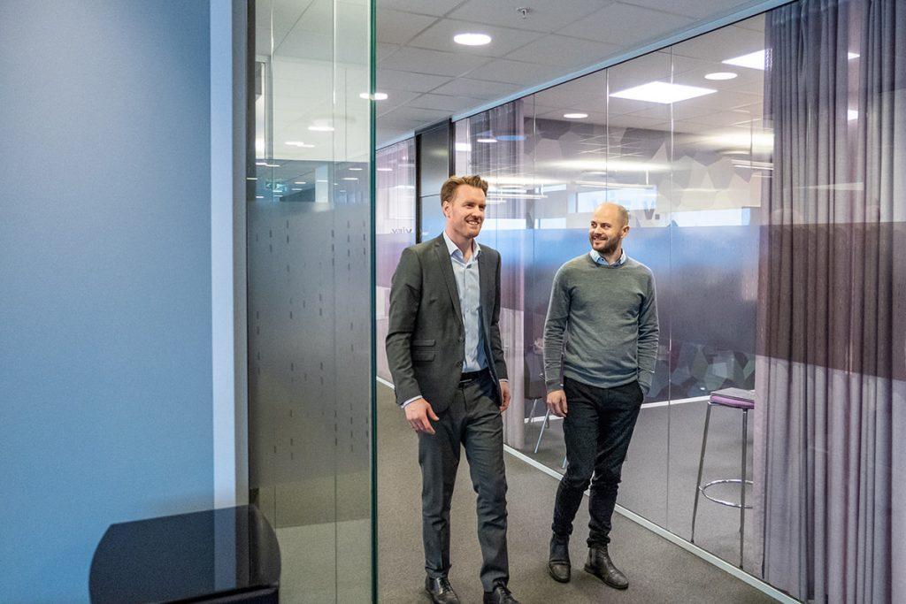 Stian Brandvold og Kjetil Hammersmark i VIEW Ledger