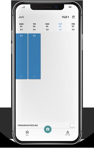 Før timer i Tripletex-appen