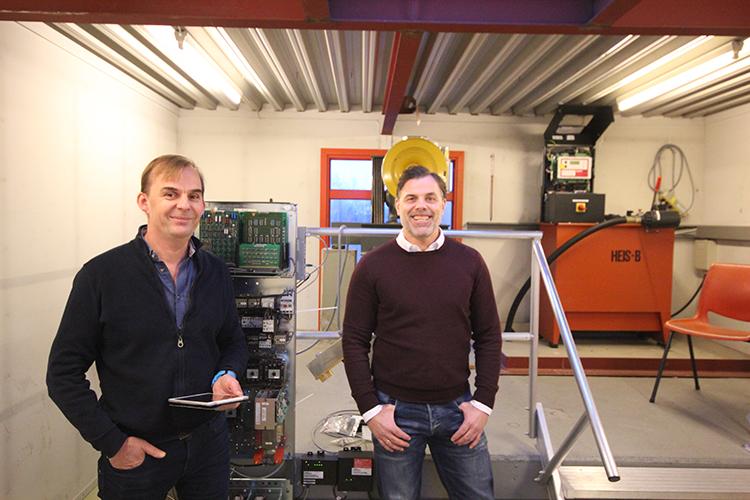 Erik Kristiansen og Richard Dalberg i Heisrådgiveren AS i kundemøte