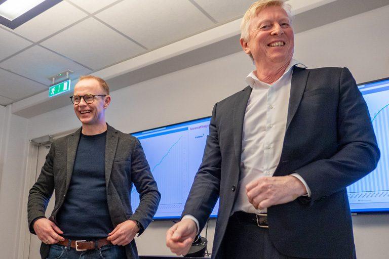 Nils Bernhard Nilssen sammen med Einar Gynnild i Business Analyze