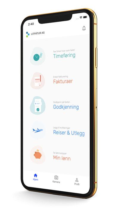 Enklere regnskap –Tripletex på mobil